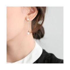 UPTOWNHOLIC - Faux-Pearl Drop Earrings