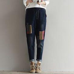Clover Dream - Applique Harem Jeans