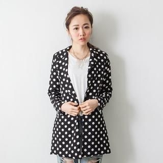 D.P-Shop - Polka-Dot Long-Sleeve Blazer