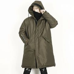 Remember Click - Hoodie Long Padded Jacket