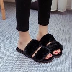 MANMANNI - Faux-Fur Slippers