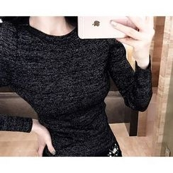 Marlangrouge - Boat-Neck Glittered Knit Top