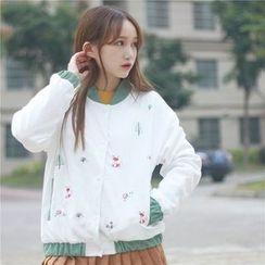 GOGO Girl - 刺绣夹层夹克