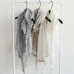 NANING9 - 蕾絲邊圍巾