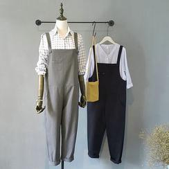 芷蓯夕 - 純色背帶連衣褲