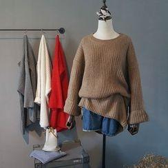 芷蓯夕 - 純色長款毛衣