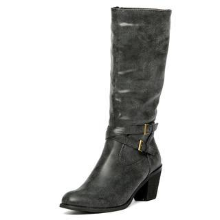 yeswalker - Double-Belt Block Heel Tall Boots