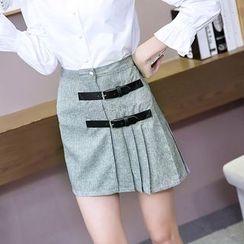 Bloombloom - Pleated Trim Mini Skirt