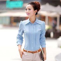 Sienne - Long-Sleeve Chiffon Shirt