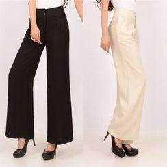 InnoGlam - Plain Wide-Leg Pants