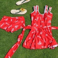 Dolfin - Set: Printed Swimdress + Swim Shorts
