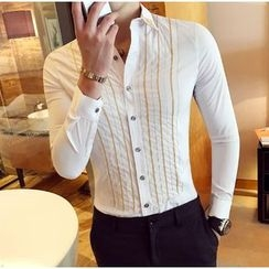 Kieran - Pinstripe Long-Sleeve Shirt