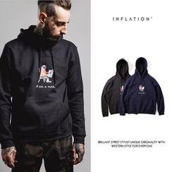 Newin - Print Fleece-lined Hoodie