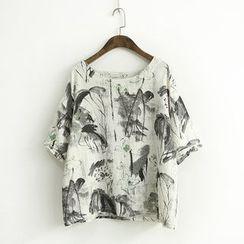 蘭芝 - 短袖印花T恤