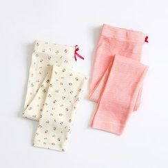 Seashells Kids - Kids Bow Accent Printed Pants
