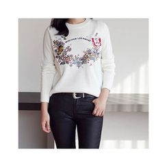 MASoeur - Embroidered Floral Sweater