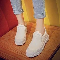 QQ Trend - Chunky Heel Slip-Ons