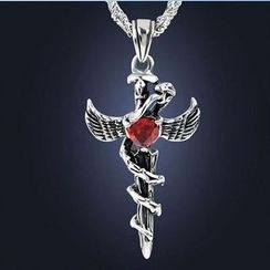 Feather World - Cross Pendant Necklace