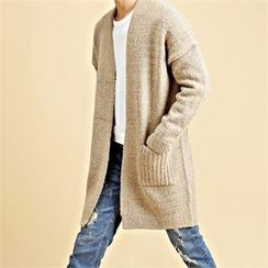 THE COVER - Open-Front Wool Blend Cardigan