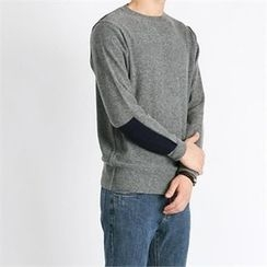 THE COVER - Contrast-Panel Wool Blend Sweater