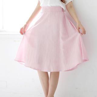 Tokyo Fashion - Pinstriped Midi Skirt