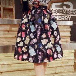 Amella - Printed A-Line Skirt