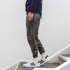 YIDESIMPLE - Plaid Wool Harem Pants