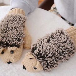 Damasco - Hedgehog Knit Mittens