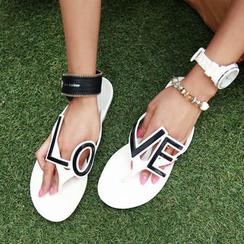 chuu - Lettering Thong Flip-Flops