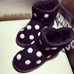 Zandy Shoes - Dotted Ankle Snow Boots