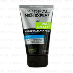 L'Oreal - Men Expert Pure and Matte Icy Effect Charcoal Black Foam