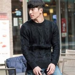STYLEMAN - Colored Cable-Knit Sweater