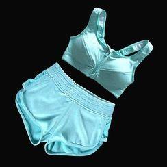 Girasol - Workout Set: Padded Bra + Shorts