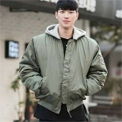 STYLEMAN - Padded Zip-Up Hoodie Jacket