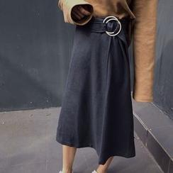 Windflower - Midi A-Line Skirt