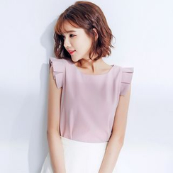 Tokyo Fashion - Sleeveless Ruffled Top