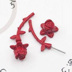 Zentangal - Rose Single Stud