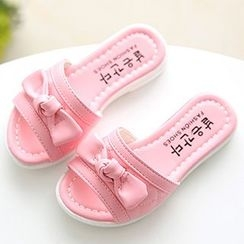 Luco - Kids Bow Accent Slide Sandals