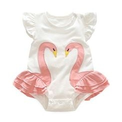 MOM Kiss - Baby Swan Frill Trim Bodysuit