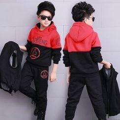 Pegasus - 童裝套裝: 撞色連帽衫 + 馬甲 + 運動褲