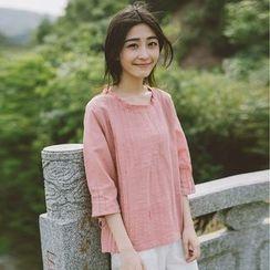 兰芝 - 纯色七分袖T裇