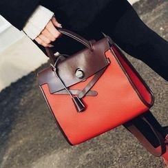Shinian - 拼色手提包