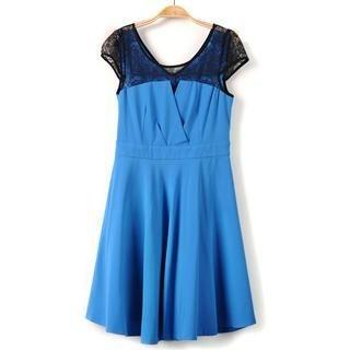 9mg - Lace-Panel A-Line Dress