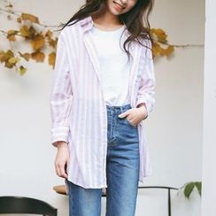 SUYISODA - Striped Long Shirt