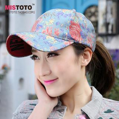 BYME - Flower Print Baseball Cap