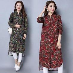 Yeeya - Floral Print Long Shirt