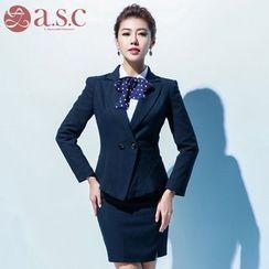 Aision - Blazer / Shirt / Pencil Skirt