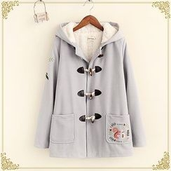 Fairyland - Embroidered Hooded Toggle Coat