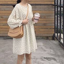 Mango Home - Long-Sleeve Floral Chiffon Dress