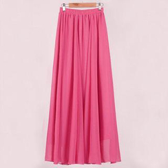 Jenny's Couture - Pleated Chiffon Long Skirt